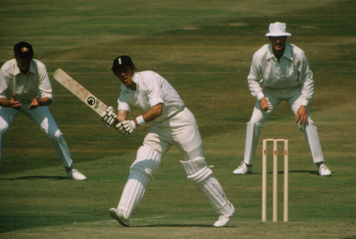 Boycs en route to his 100th hundred, at Headingley in 1977. Would he have got there if he had been batting No. 1? Fat chance