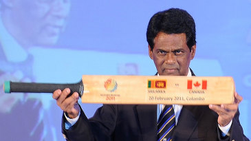 Somachandra de Silva at a 2011 World Cup function
