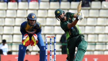 Azhar Ali launches one down the ground