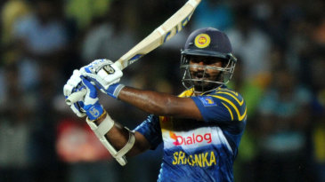 Kusal Perera pulls en route to his 25-ball 68