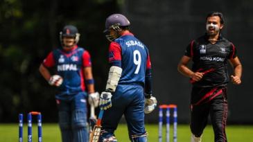 Haseeb Amjad took 4 for 16 against Nepal