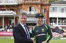 Peter Nevill receives his baggy green from Steve Waugh ahead of his Test debut at Lord's, England v Australia, 2nd Investec Ashes Test, Lord's, July 16, 2015