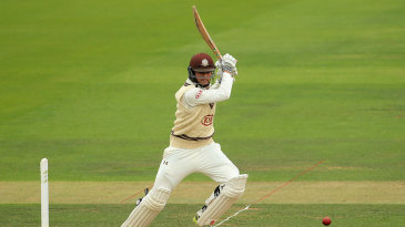 Ben Foakes punches through the off side
