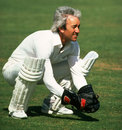 Bob Taylor keeps, England, 1985