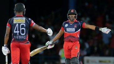 Darren and Dwayne Bravo added 59 runs in 2.4 overs