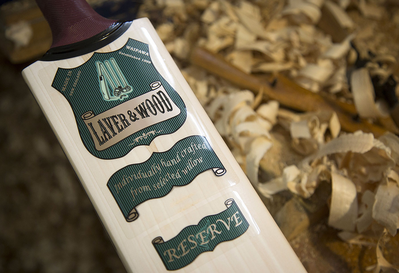 Smell the varnish: A Laver & Wood bat is born