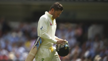 Michael Clarke was dismissed for 7
