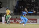 Keron Cottoy finished with 4 for 18, Guyana Amazon Warriors v St Lucia Zouks, CPL 2015, Guyana, July 17, 2015