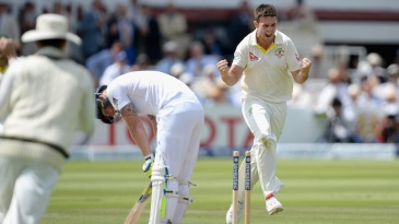Mitchell Marsh is pumped after getting rid of Ben Stokes