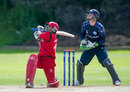 Aamir Kaleem struck five fours and three sixes in his 59, Scotland v Oman, World T20 Qualifier, Edinburgh, July 18, 2015