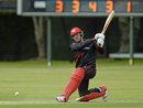 Jamie Atkinson top-scored for Hong Kong with 34 off 23 deliveries, Hong Kong v USA, World Twenty20 Qualifier, Group A, Dublin, July 18, 2015