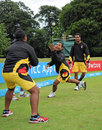 PNG players warm up before the match, Namibia v Papua New Guinea, World T20 Qualifier, Group A, Dublin, July 18, 2015