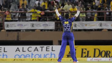 Kieron Pollard took two wickets in the last over