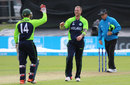 John Mooney claimed a hat-trick in the last over of the innings, Ireland v Jersey, World T20 Qualifier, July 19, 2015
