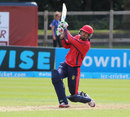 Jersey captain Peter Gough goes through the off side, Ireland v Jersey, World T20 Qualifier, July 19, 2015