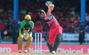 Jacques Kallis drives during his half-century, Jamaica Tallawahs v Trinidad & Tobago Red Steel, CPL 2015, Port-of-Spain, July 19, 2015