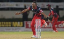 Dwayne Bravo took 2 for 18 after making 49 off 30 balls, Jamaica Tallawahs v Trinidad & Tobago Red Steel, CPL 2015, Port-of-Spain, July 19, 2015