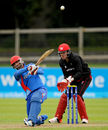 Nawroz Mangal hits it for six, Afghanistan v Hong Kong, World T20 Qualifier, 1st play-off, Dublin, July 21, 2015