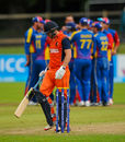 Wesley Barresi walks off after being dismissed for a golden duck, Namibia v Netherlands, World T20, 2nd play-off,  Dublin, July 21, 2015