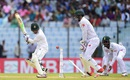 Mominul Haque is bowled by Simon Harmer, Bangladesh v South Africa, 1st Test, Chittagong, 2nd day, July 22, 2015