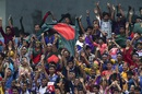 Bangladesh fans cheer their team on, Bangladesh v South Africa, 1st Test, Chittagong, 2nd day, July 22, 2015