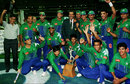 The Pakistan team with the trophy, Pakistan v West Indies, 2nd final, Carton and United Series, Melbourne, January 20, 1997