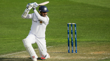 Kumar Sangakkara executes a picture-perfect cover drive