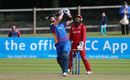 Stephan Baard lofts one during his 52-ball 62, Namibia v Oman, World T20 Qualifier, Play-off, Dublin, July 23, 2015