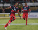 Dwayne Bravo picked up figures of 5 for 23, Trinidad & Tobago Red Steel v Jamaica Tallawahs, CPL 2015, Trinidad, July 23, 2015