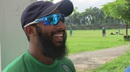 A relaxed-looking Aftab Ahmed at his academy,  Chittagong Divisional Sports Association ground, July 23, 2015