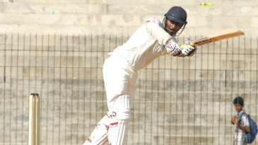 Abhinav Mukund flicks the ball through the leg side