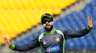 Just chill: Ahmed Shehzad takes it easy in a training session