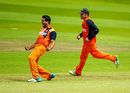Mudassar Bukhari ran through the Ireland line-up with returns of 4 for 28, Ireland v Netherlands, World T20 Qualifier, 2nd semi-final, Malahide, July 25, 2015