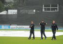 Members of the Scotland support staff express their opinion, Netherlands v Scotland, World T20 Qualifier final, Malahide, July 26, 2015