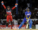 Dwayne Smith was bowled by Sulieman Benn for 49, Trinidad & Tobago Red Steel v Barbados Tridents, CPL 2015, final, Port-of-Spain, July 26, 2015