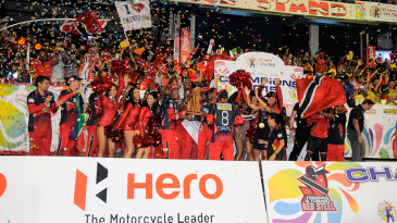 Trinidad & Tobago Red Steel celebrate their CPL title win
