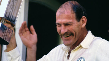 Clive Rice holds aloft the Natwest Trophy