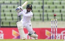 Mominul Haque drives through the off side, Bangladesh v South Africa, 2nd Test, Mirpur, 1st day, July 30, 2015