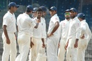 B Aparajith picked up four wickets, India A v Australia A, 2nd unofficial Test, Chennai, 2nd day, July 30, 2015