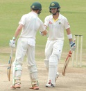 Callum Ferguson is congratulated after he brought up his half-century, India A v Australia A, 2nd unofficial Test, Chennai, 2nd day, July 30, 2015