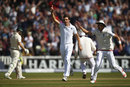 Steven Finn was on a hat-trick after removing Adam Voges first-ball, England v Australia, 3rd Test, Edgbaston, 2nd day, July 30, 2015