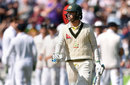 Michael Clarke walks off after another cheap dismissal, England v Australia, 3rd Test, Edgbaston, 2nd day, July 30, 2015