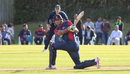 Paras Khadka sweeps Michael Leask over square leg, Scotland v Nepal, ICC World Cricket League Championship, Ayr, July 29, 2015