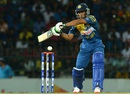 Dhananjaya de Silva flays the ball through the off side, Sri Lanka v Pakistan, 1st T20I, Colombo, July 30, 2015