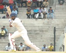 Abhinav Mukund flays the ball through the off side, India A v Australia A, 2nd unofficial Test, Chennai, 3rd day, July 31, 2015