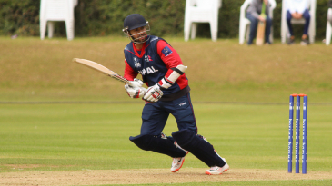Sharad Vesawkar clips it through the leg side