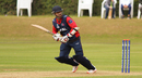 Sharad Vesawkar clips it through the leg side, Scotland v Nepal, World Cricket League Championship, Ayr, July 31, 2015