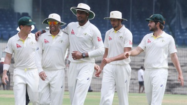 Gurinder Sandhu finished with 4 for 76