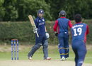 Matthew Cross scored an unbeaten fifty, Scotland v Nepal, ICC World Cricket League Championship, Ayr, August 1, 2015