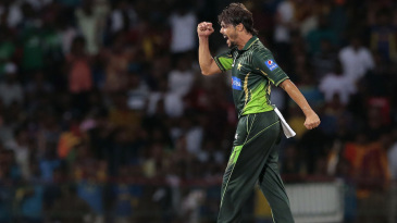 Anwar Ali celebrates the wicket of Tillakaratne Dilshan